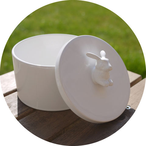 Rabbit,Drum,Rabbit white ceramic ceramics pot canister