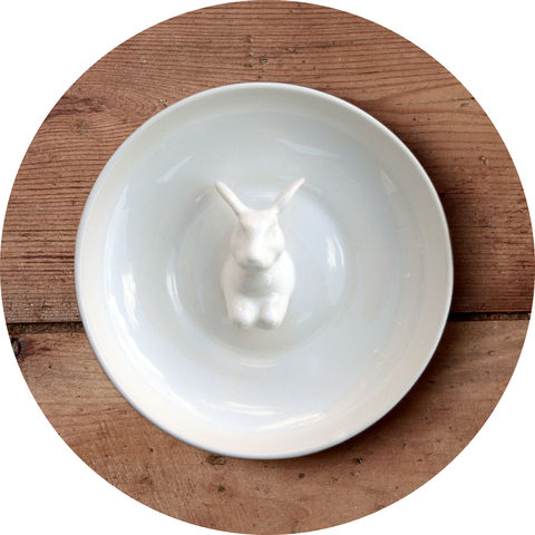 Rabbit,Oink,Dipping Dish, Rabbit, oink