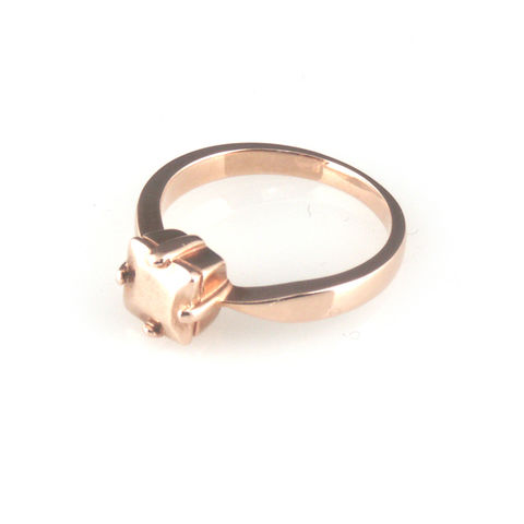'Daimond,Temptation',-,9ct,rose,gold,princess,cut,diamond,ring,silver jewellery, contemporary jewellery, ring