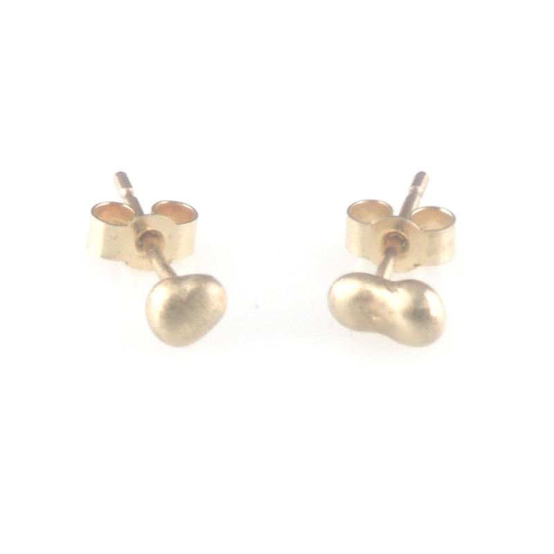 Special Offer\' - Gold stone shape ear stud - Day C