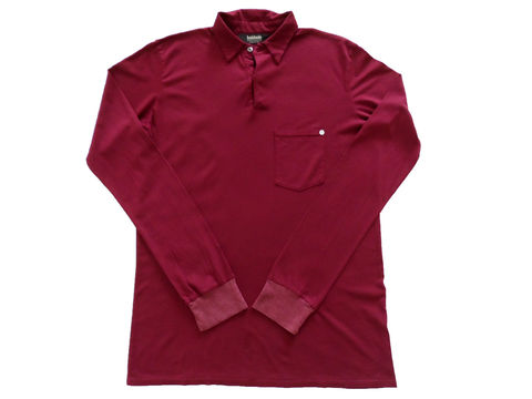 Baldwin,Long,Sleeve,Premium,Polo,-,Burgundy,burgundy, long sleeve polo, ls, baldwin denim polo, polo shirt, made in the USA