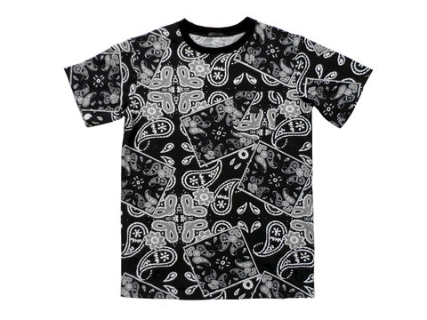 Unyforme,Ceremony,Pocket,Tee,-,Black, ceremony, paisley, black, hypebeast, lebron