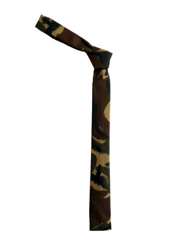 The,Hill-side,Hungarian,Camo,Print,Tie,-,Olive/Brown,camo, camouflage, hungarian, abstract, the Hill-side, hillside, hickorees, tie, made in america, made in the usa, USA
