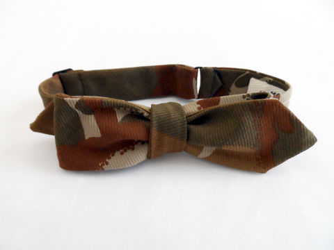 The,Hill-side,Hungarian,Camouflage,Print,Bow,Tie,-,Brown,Tan,bow tie, camo, abstract, the Hill-side, hillside, hickorees, tie, made in america, made in the usa, USA