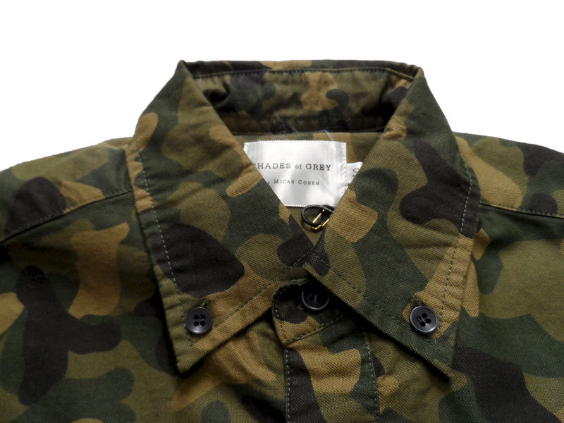 Shades of Grey by Micah Cohen Slim Fit Button Down Shirt - Camo Oxford - product image