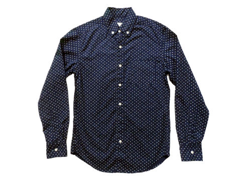 Shades,of,Grey,by,Micah,Cohen,Slim,Fit,Button,Down,Shirt,-,Navy,Dot,shades of grey by micah cohen, slim fit button down navy dot, oxford, button down, navy, shirting