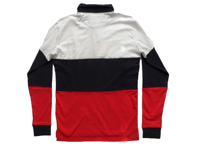 Shades of Grey Colorblock Rugby Shirt - White Navy Red - product image
