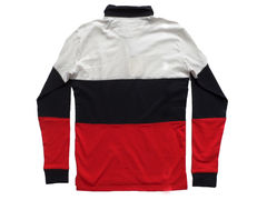 Shades of Grey Colorblock Rugby Shirt - White Navy Red - product images 2 of 3