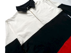 Shades of Grey Colorblock Rugby Shirt - White Navy Red - product images 3 of 3