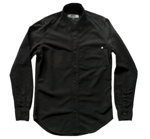 Baldwin,-,William,Button,Down,Shirt-,Black,The William shirt, Baldwin denim, denim, william black, black shirt, button down, all black