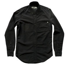 Baldwin - William Button Down Shirt- Black - product images 1 of 3