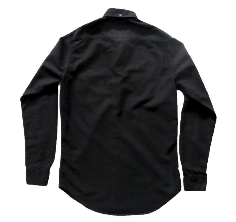 Baldwin - William Button Down Shirt- Black - product image