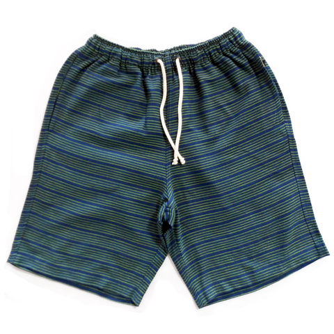 Jed,&,Marne,Shorts,Long,-,Lime,Pond,hand woven, hand dyed, loom, shorts, beach, summer, jed and marne, jed & marne, lime pond