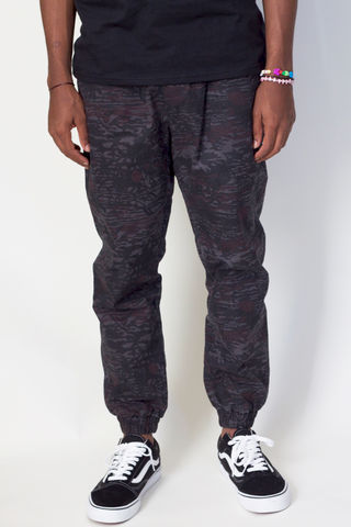 Shades,of,Grey,Jogger,Overdyed,Hawaiian,Print,Twill,jogger, shades of grey, micah cohen, twill, pants, hawaiian