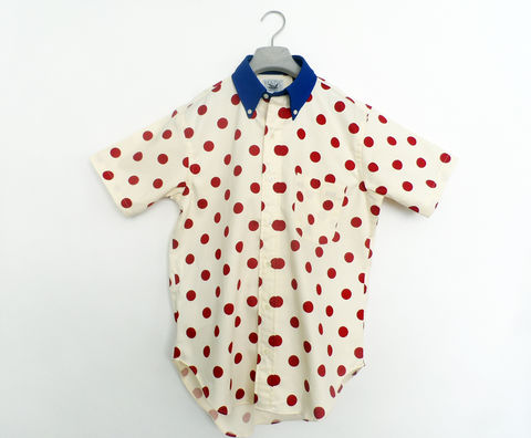 Mark,McNairy,Polka,Dot,Short,Sleeve,Shirt,mark mcnairy poika dot, polka dots, shirt, short sleeve, made in the usa, USA, made in america, U.S.A., new amsterdam