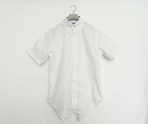 Mark,McNairy,New,Amsterdam,Perforated,Shirt,perforated, cotton shirt, mark mcnairy new amsterdam, mcnasty, short sleeve shirt, white shirt, button down shirt