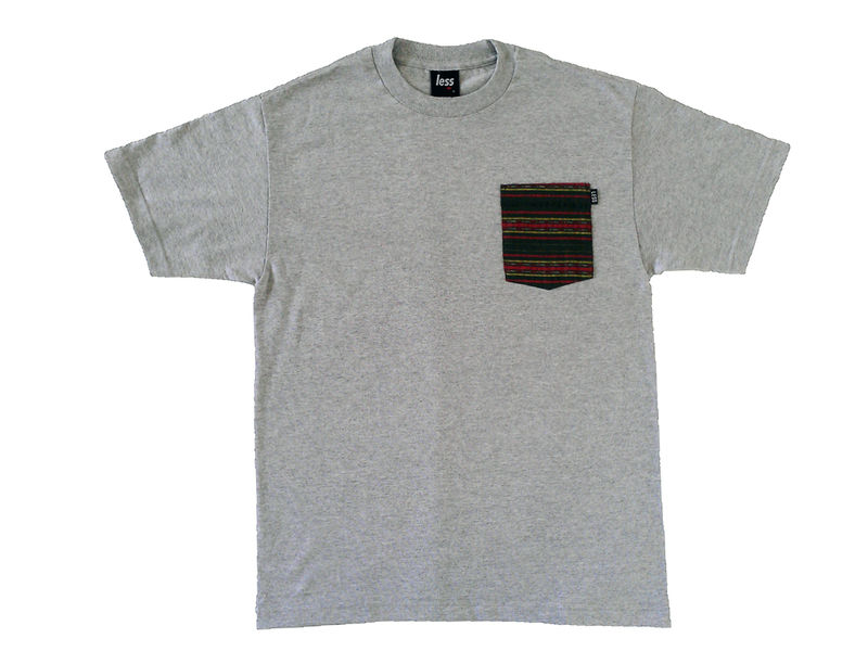 Less Native Pocket Tee - Grey - product image