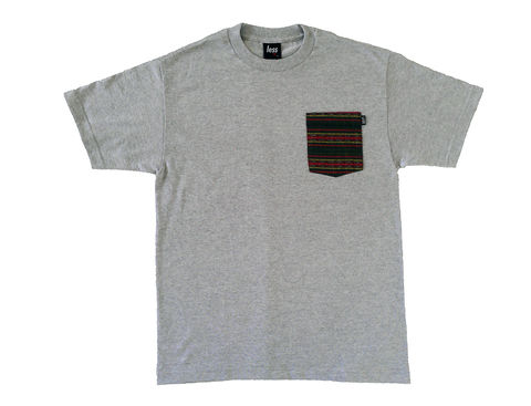 Less,Native,Pocket,Tee,-,Grey,pocket tee, navajo print, Less native