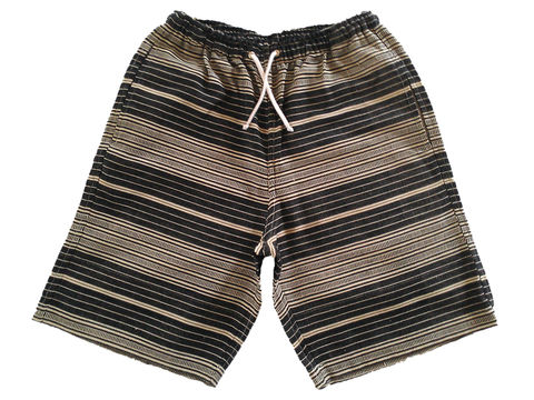 Jed,&,Marne,-,Bone,Stone,Long,shorts,hand woven, hand dyed, loom, shorts