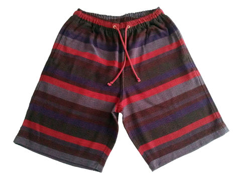 Jed,&,Marne,-,Holy,Wine,long,shorts,hand woven, hand dyed, loom, shorts
