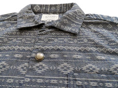 SSDD Americana Jacquard S/S Shirt - Blue - product images 3 of 4