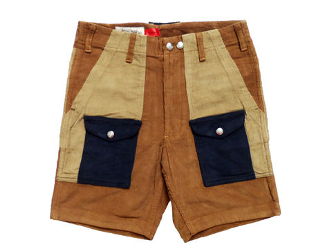 Monitaly,Camp,Shorts,Monitaly Camp shorts, Corduroy, cords, monitaly, meg company, color block