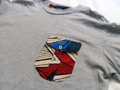 Monitaly Brown Geo Pocket Tee - Grey - product images 4 of 4