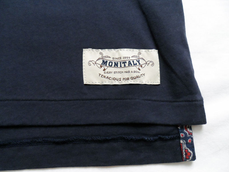 Monitaly Navy Komon Pocket Tee - product image