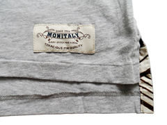 Monitaly Brown Geo Pocket Tee - Grey - product images 3 of 4