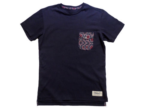 Monitaly,Navy,Komon,Pocket,Tee,Monitaly Pocket tee, Komon, monitaly, meg company, tribal, ethnic, print
