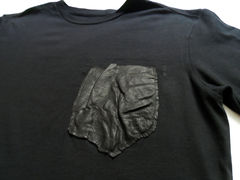 Monitaly Leather Pocket Tee - product images 2 of 4