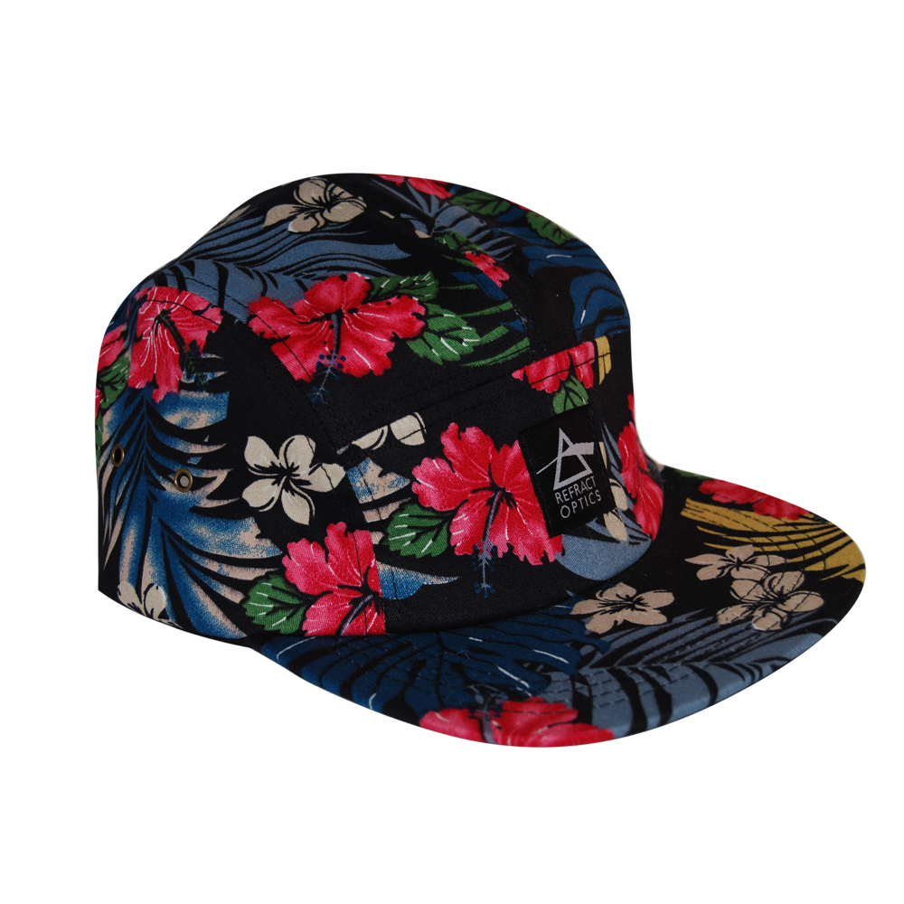70% OFF Ltd Ed. Refract Optics 5 Panel Cap - Black Hawaiian - product image