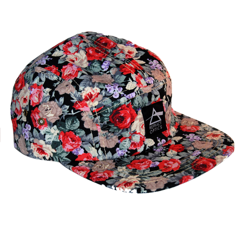 70%,OFF,Ltd,Ed.,Refract,Optics,5,Panel,Cap,-,Black,Roses,Refract Optics 5 Panel Cap - Black Roses