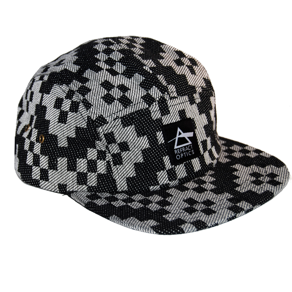 Ltd Ed. Refract Optics 5 Panel Cap - B&W Block - product image