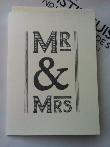 Mr,&,Mrs,Card,by,East,of,India,Mr & Mrs Card by East of India