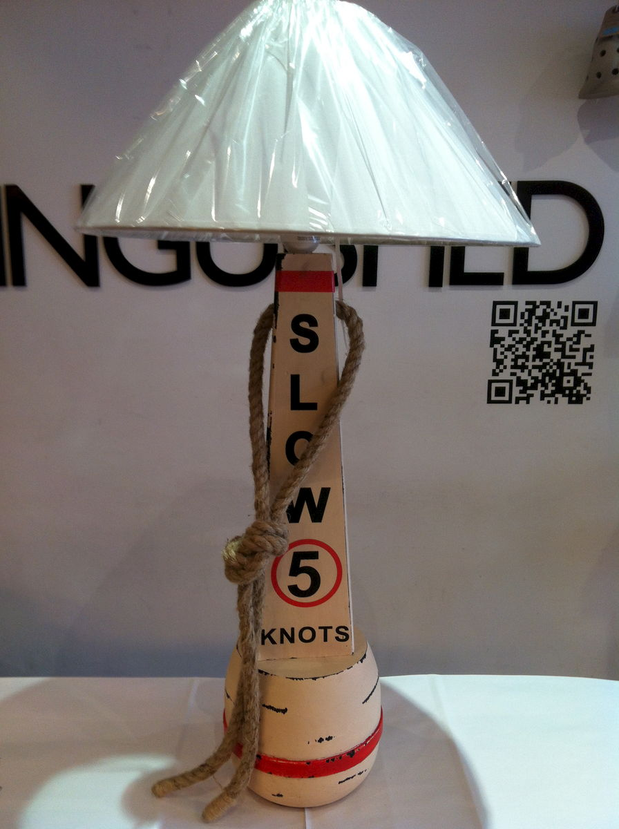 Large Wooden Buoy Slow Lamp - product images  of