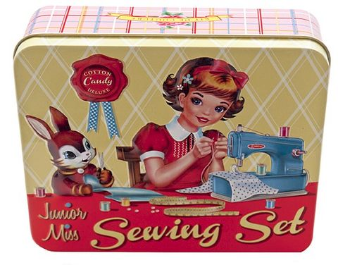 Junior,Miss,Sewing,Set,Tin,&,Accessories,by,Wu,Junior Miss Sewing Set Tin & Accessories by Wu & Wu