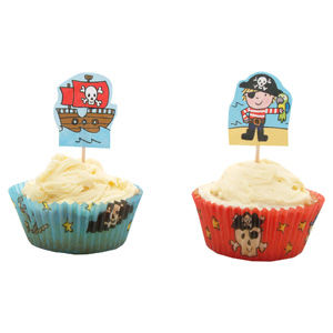 50% OFF 24 Pirate Cupcake Cases & Toppers by Mason Cash - product images  of