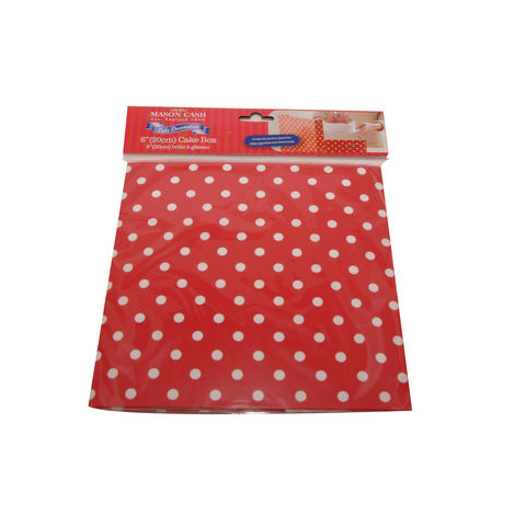 50%,OFF,8,(20cm),Red,Polka,Dot,Cake,Box,by,Mason,Cash,8 (20cm) Red Polka Dot Cake Box by Mason Cash