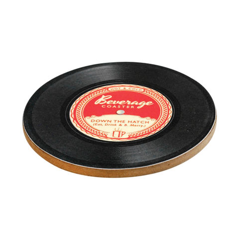 Retro,Record,Beverage,Coaster,by,Rex,International,Retro Record Beverage Coaster by Rex International