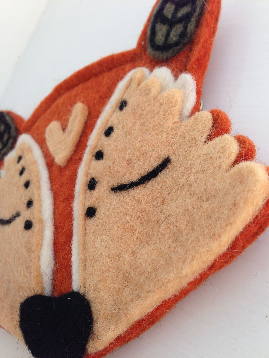 Felt Fox Purse - product images  of