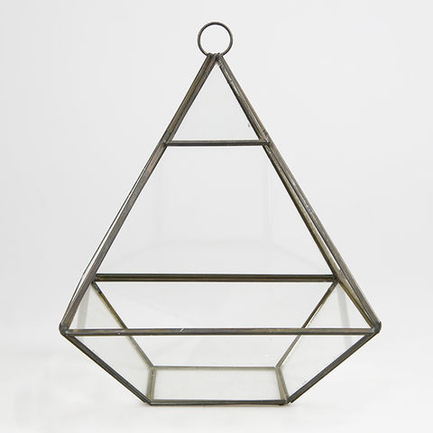 Black,Pyramid,Shape,Terrarium,by,Sass,&,Belle,Black Pyramid Shape Terrarium by Sass & Belle