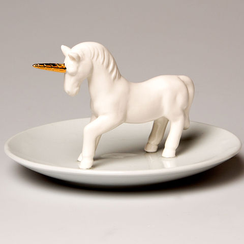 Small,Unicorn,Jewellery,Dish,by,Sass,&,Belle,Small Unicorn Jewellery Dish by Sass & Belle