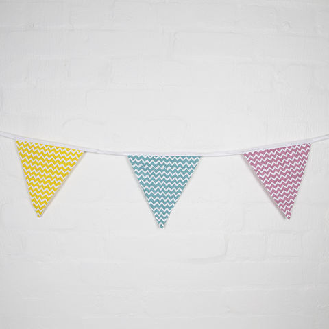 Pastel,Chevron,Print,Bunting,by,Sass,and,Belle,Pastel Chevron Print Bunting by Sass and Belle