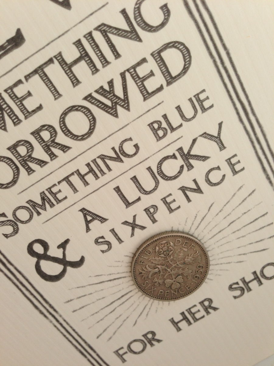 Old, New, Borrowed, Blue with Sixpence Card by East of India - product images  of