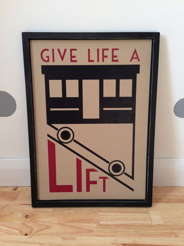 70%,OFF,East,of,India,'Give,Life,A,Lift',A3,wooden,framed,50% OFF East of India 'Give Lift A Life' A3 wooden framed