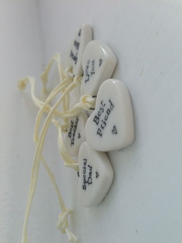 Tiny,Porcelain,Heart,Tokens,by,East,of,India,Tiny Porcelain Hanging Heart by East of India