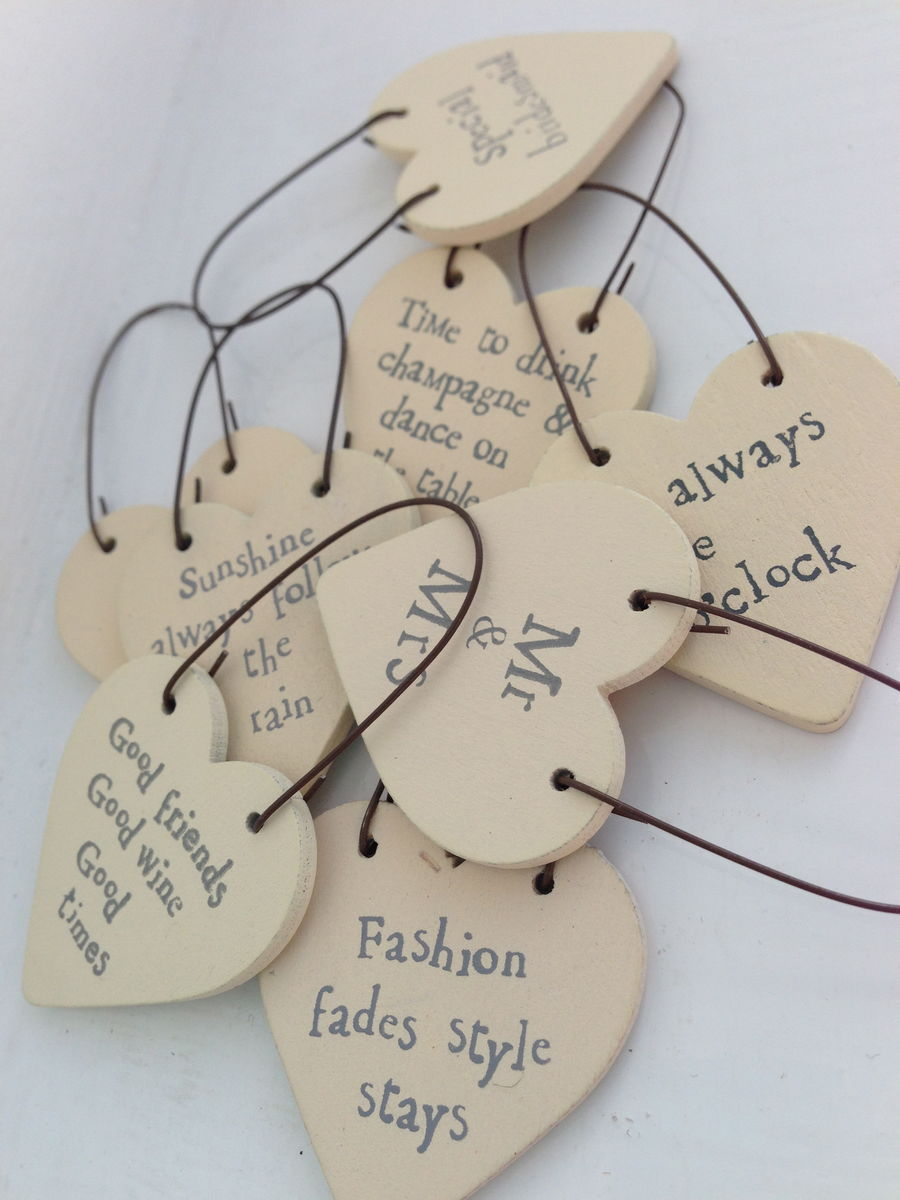 Little Heart Tokens with words by East of India - product images  of
