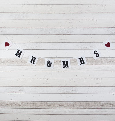 70% OFF Fabric Mr & Mrs Bunting by Sass & Belle - product images  of