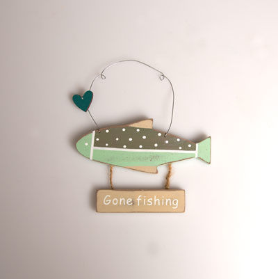 50%,OFF,Gone,Fishing,Hanging,Sign,by,Sass,&,Belle,50% OFF Gone Fishing Hanging Sign by Sass & Belle